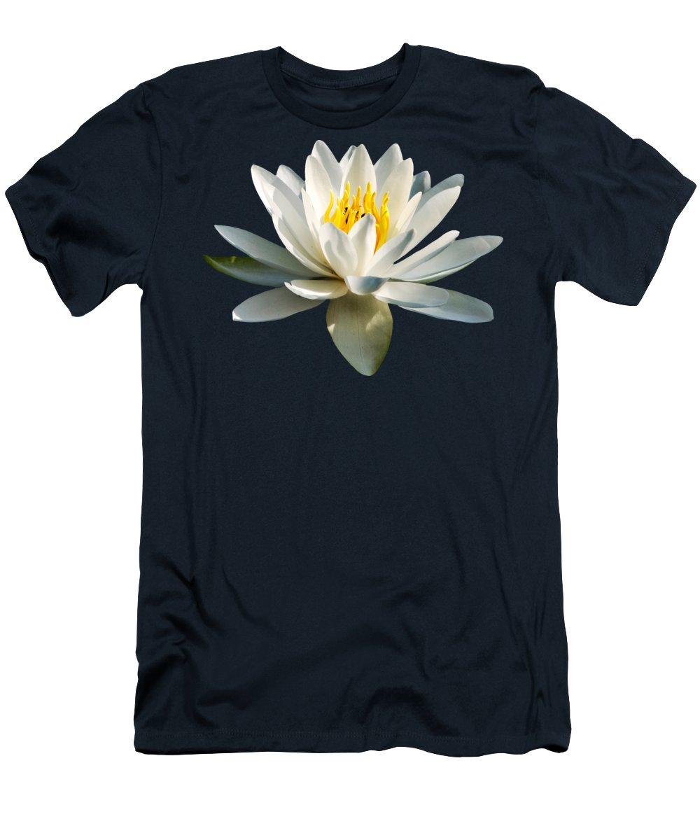 Water Lily Men's T-Shirt (Athletic Fit) featuring the photograph White Water Lily by Christina Rollo