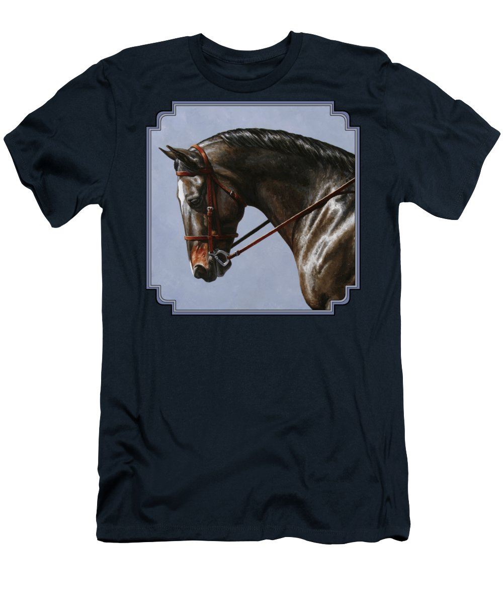 Horse Men's T-Shirt (Athletic Fit) featuring the painting Horse Painting - Discipline by Crista Forest