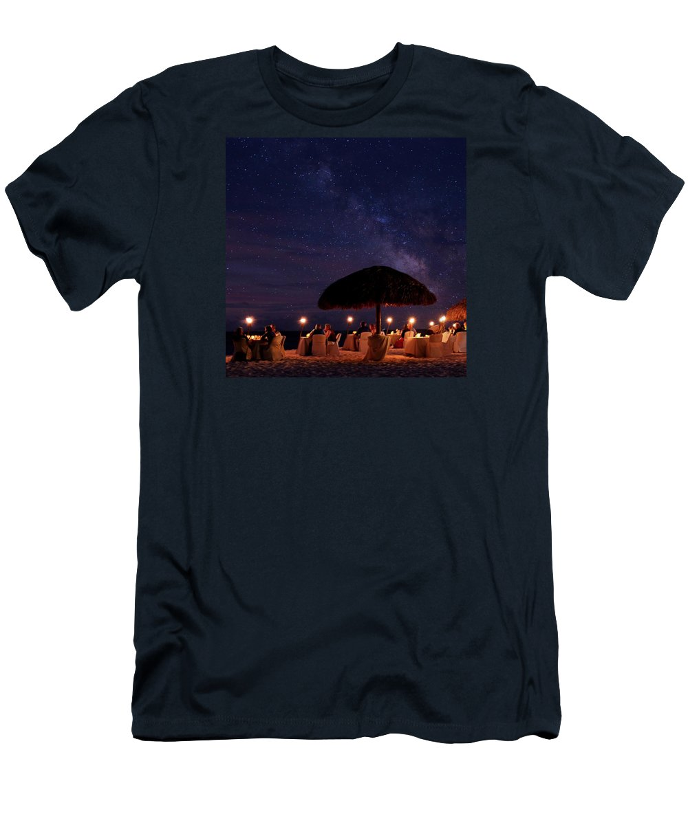 Long Exposure Men's T-Shirt (Athletic Fit) featuring the photograph Atmosphere by DJ Florek