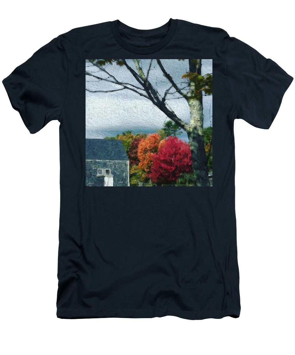 Rural Men's T-Shirt (Athletic Fit) featuring the photograph Autumn 1010 by Modern Art