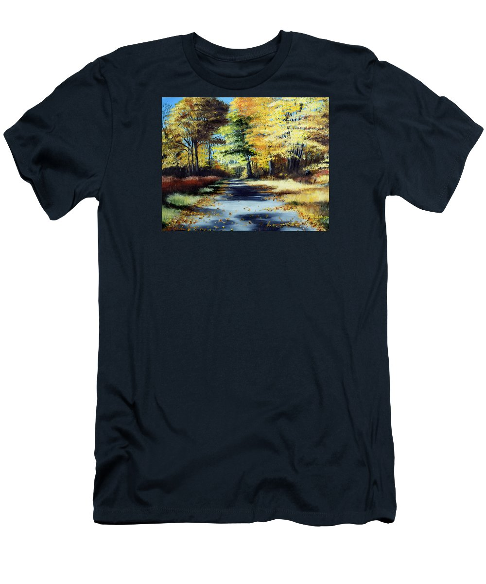Landscape Men's T-Shirt (Athletic Fit) featuring the painting Autumn Colors by Paul Walsh