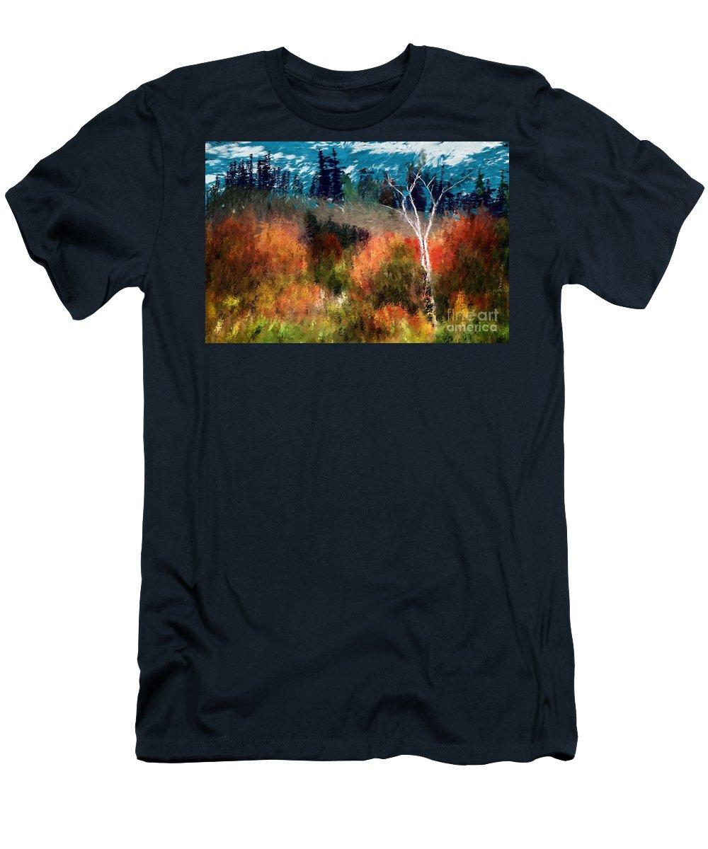 Digital Photo Men's T-Shirt (Athletic Fit) featuring the digital art Autumn Feel by David Lane