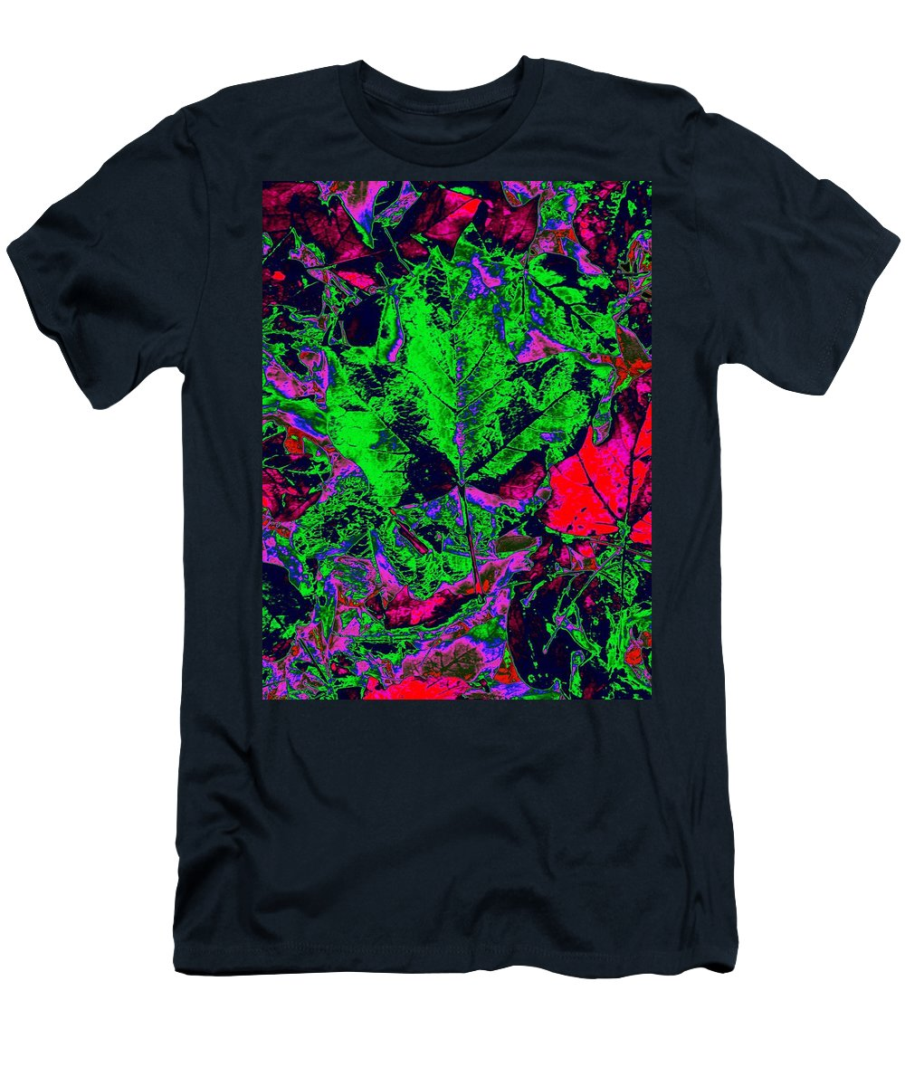 Autumn Men's T-Shirt (Athletic Fit) featuring the digital art Autumn Splash by Tim Allen