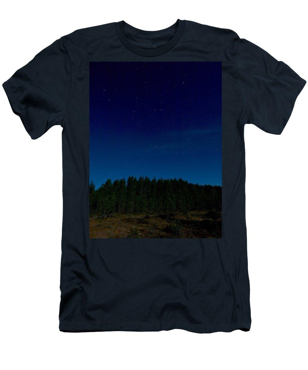 Lehtokukka Men's T-Shirt (Athletic Fit) featuring the photograph Autumn Stars 2 by Jouko Lehto