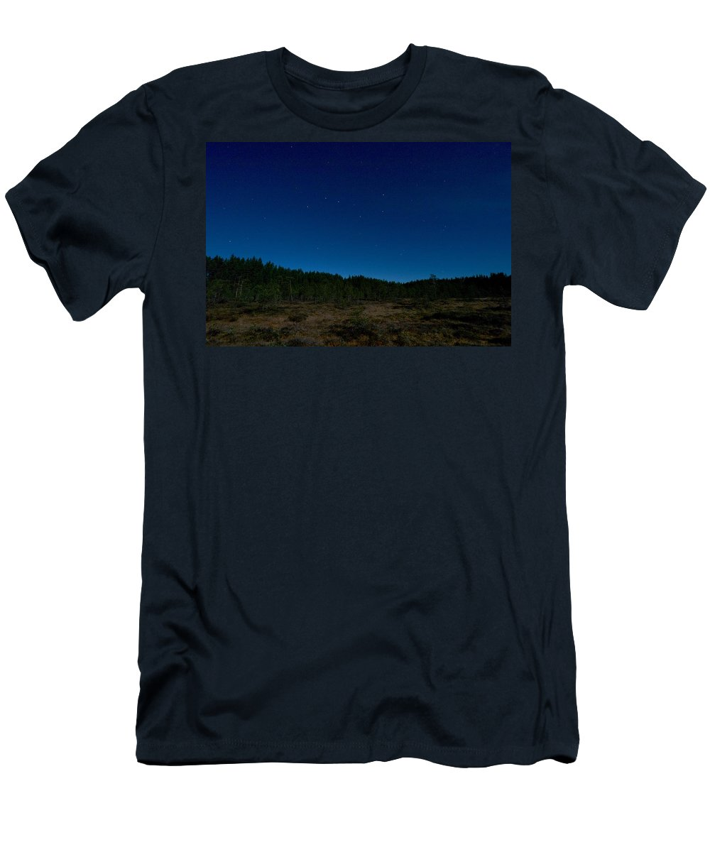 Lehtokukka Men's T-Shirt (Athletic Fit) featuring the photograph Autumn Stars by Jouko Lehto