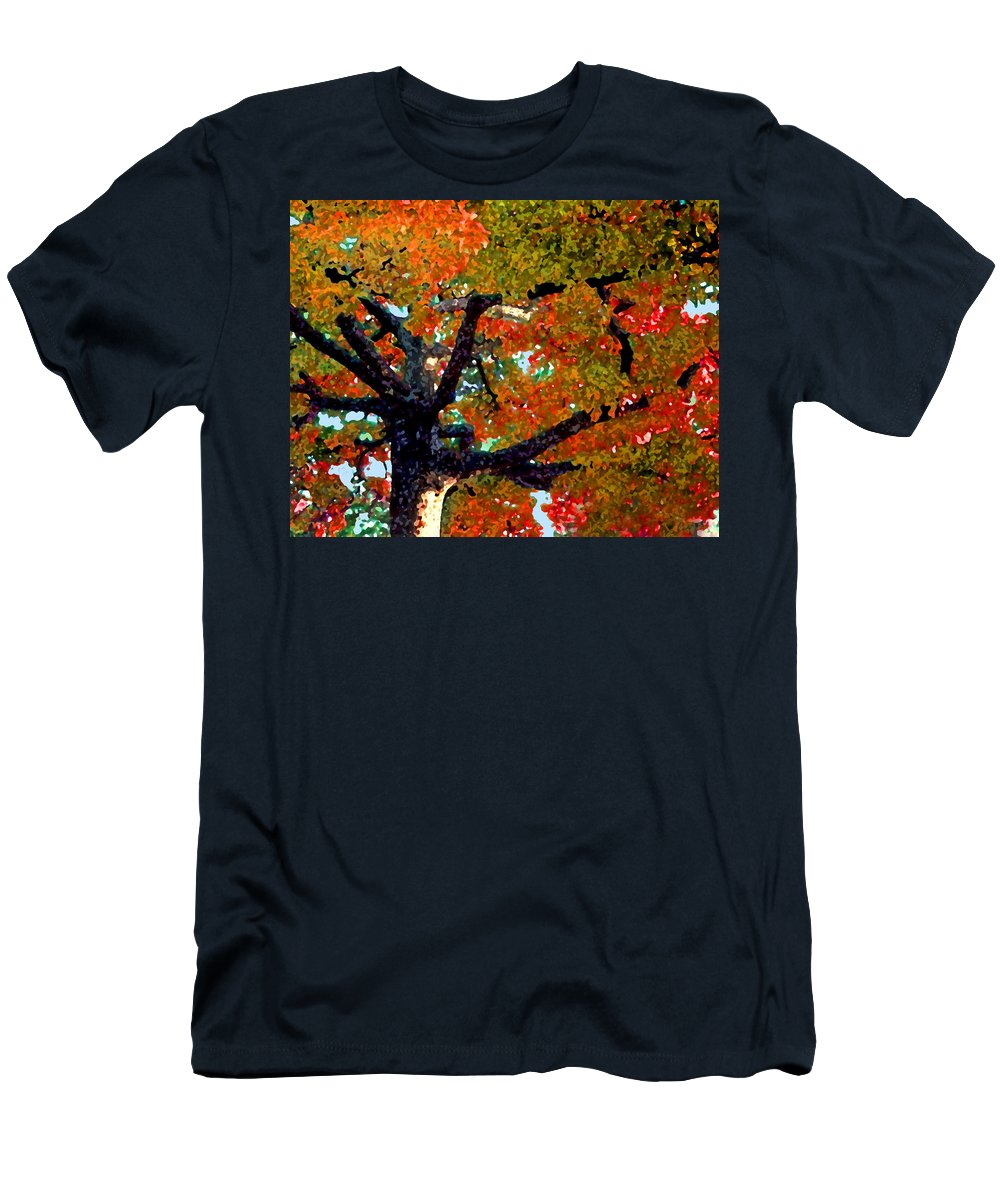 Fall Men's T-Shirt (Athletic Fit) featuring the photograph Autumn Tree by Steve Karol