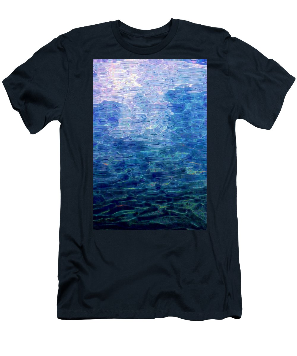 Abstract Digital Painting Men's T-Shirt (Athletic Fit) featuring the digital art Awakening From The Depths Of Slumber by David Lane