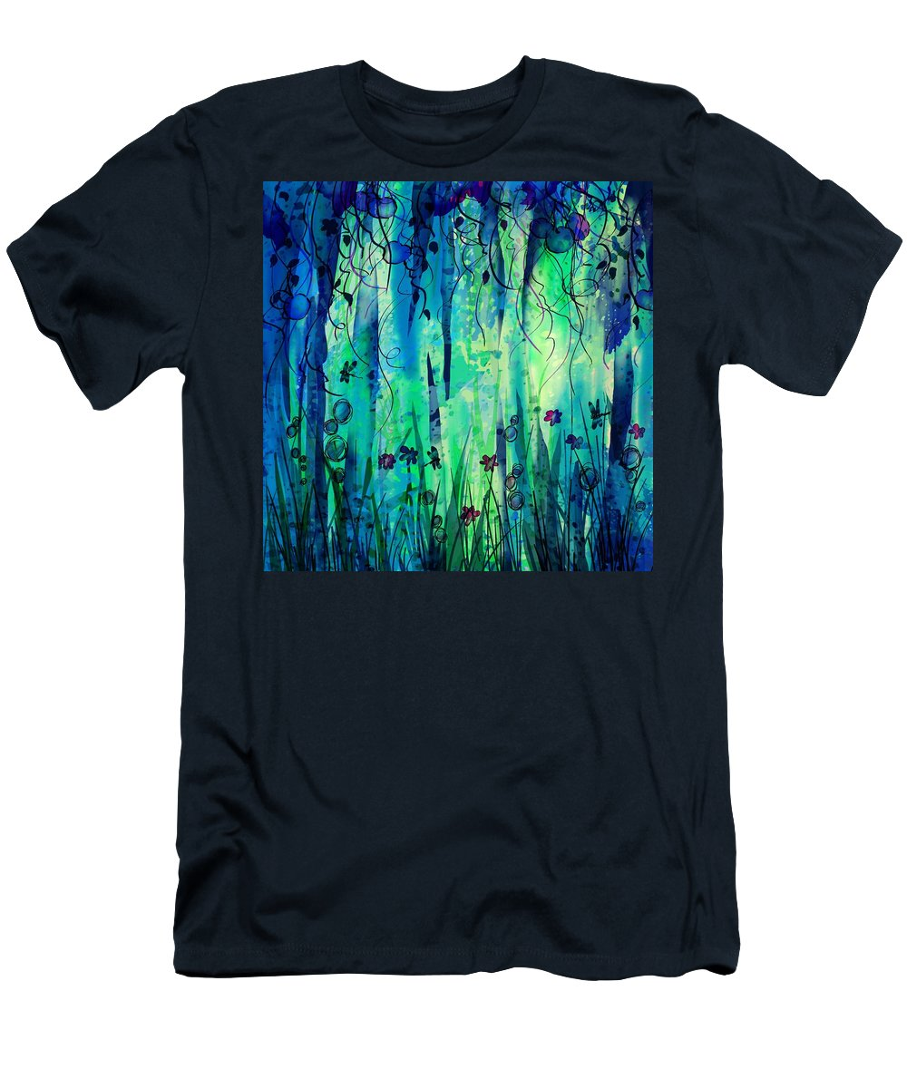 Abstract T-Shirt featuring the digital art Backyard Dreamer by William Russell Nowicki