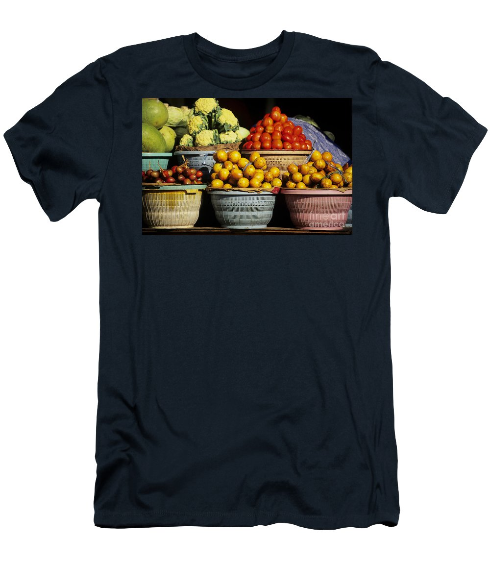 Bali Men's T-Shirt (Athletic Fit) featuring the photograph Bali Food by Dana Edmunds - Printscapes