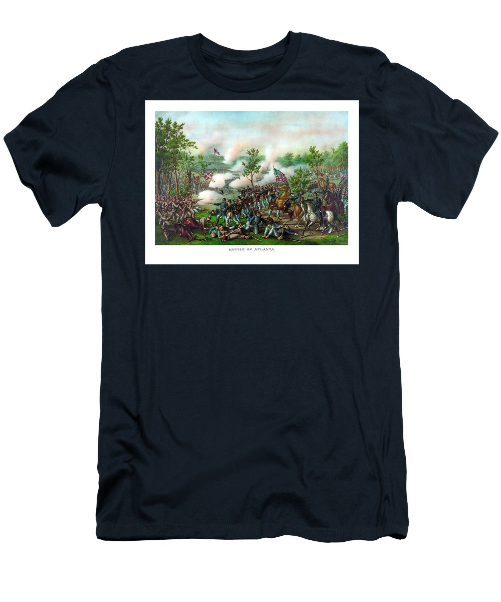 Battle Of Atlanta Men's T-Shirt (Athletic Fit) featuring the painting Battle Of Atlanta by War Is Hell Store