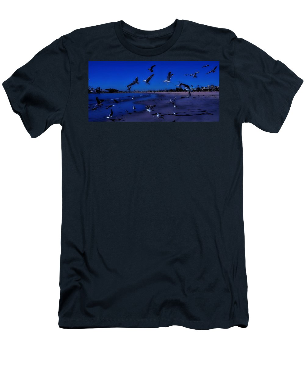Beach Men's T-Shirt (Athletic Fit) featuring the photograph Beach Boys by John R Williams