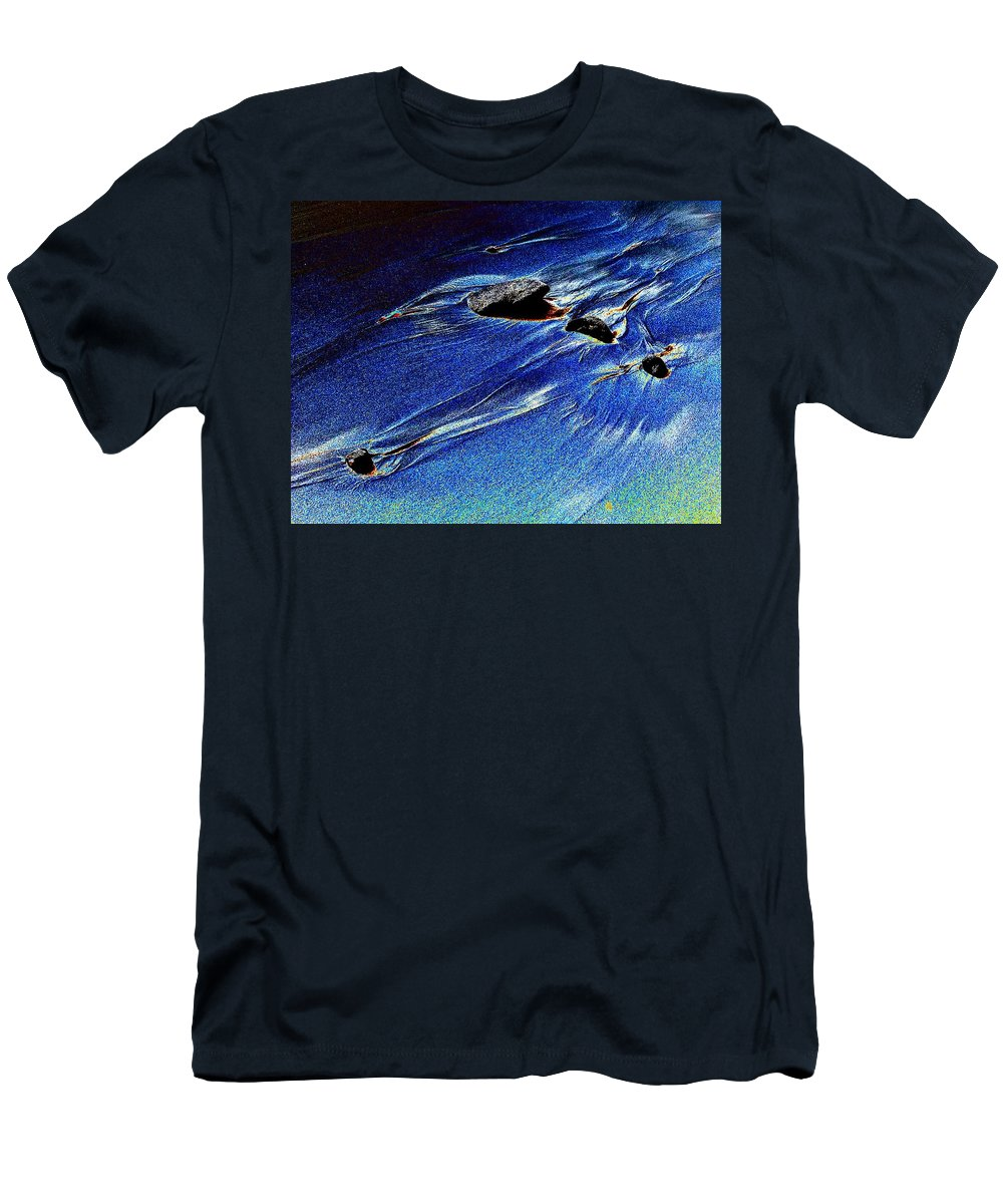 Beach Men's T-Shirt (Athletic Fit) featuring the photograph Beach Sinuosity by Tim Allen