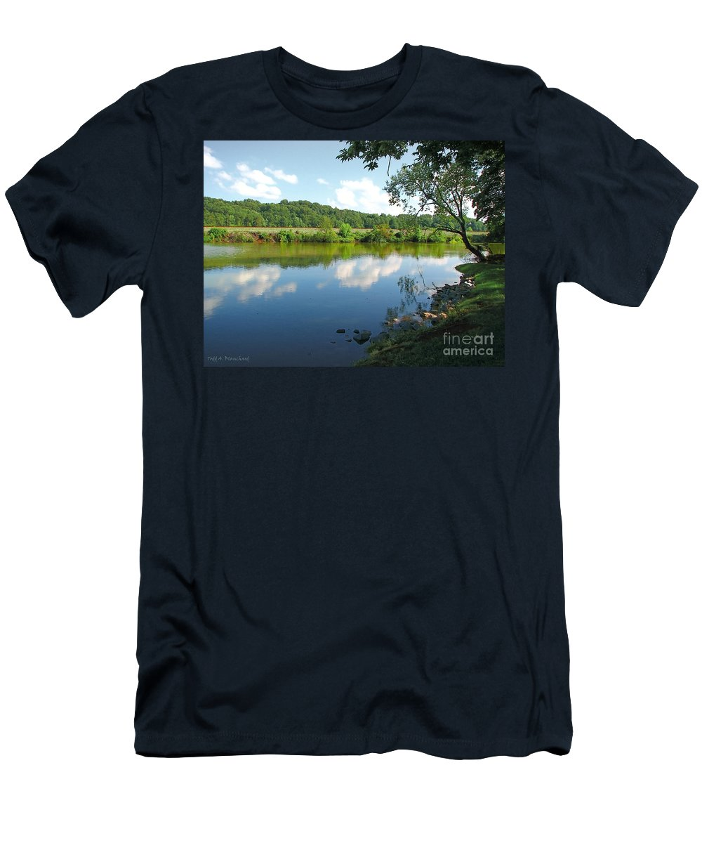 Landscape Men's T-Shirt (Athletic Fit) featuring the photograph Beautiful Blue Water by Todd Blanchard