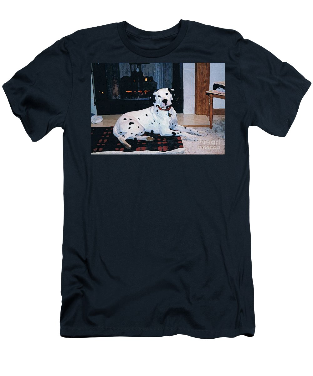 Dalmatian Men's T-Shirt (Athletic Fit) featuring the digital art Ben by Tommy Anderson