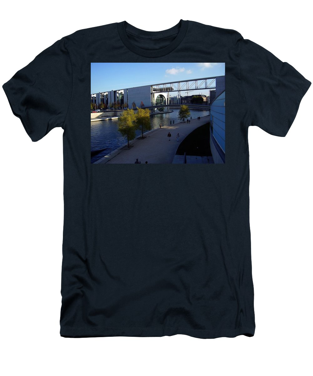 Paul-loebe Men's T-Shirt (Athletic Fit) featuring the photograph Berlin II by Flavia Westerwelle