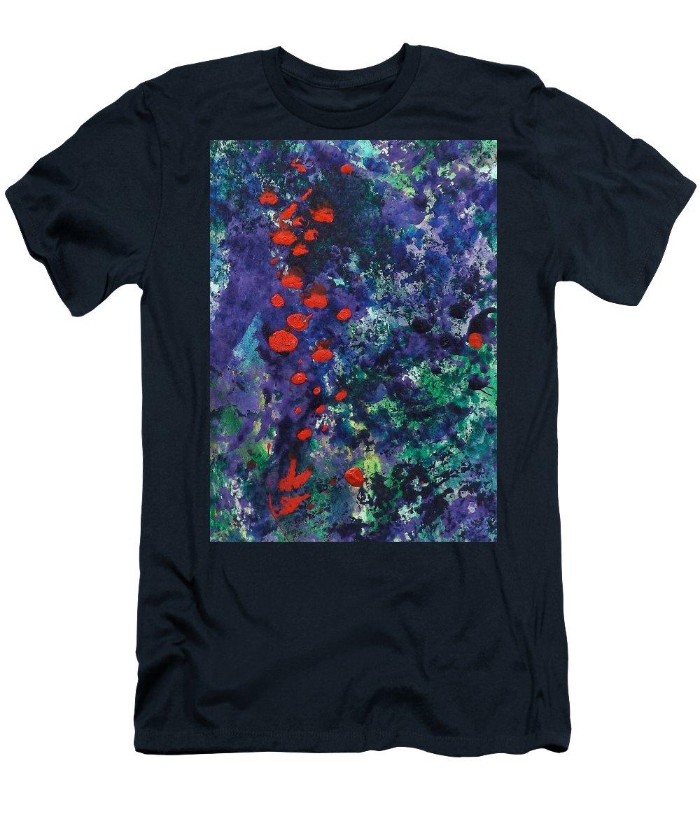 Garden Men's T-Shirt (Athletic Fit) featuring the painting Berry Garden Pie 2 by Sherry Killam