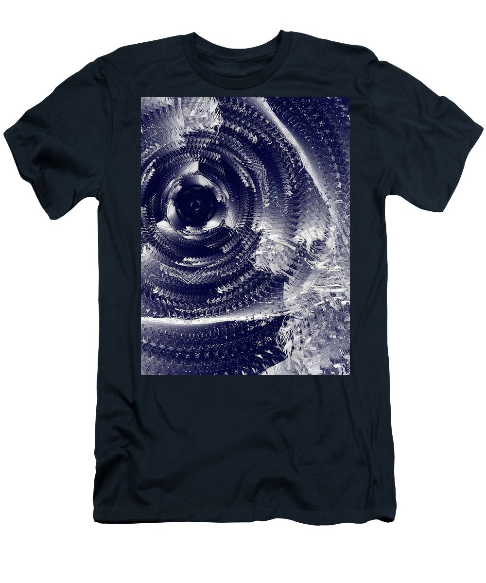 Abstract Men's T-Shirt (Athletic Fit) featuring the photograph Black Hole #66v22 by Alexander Svetlov