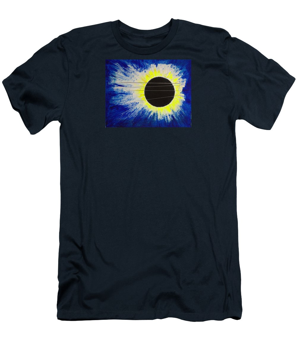 Abstract T-Shirt featuring the painting Black Hole Blues by J R Seymour