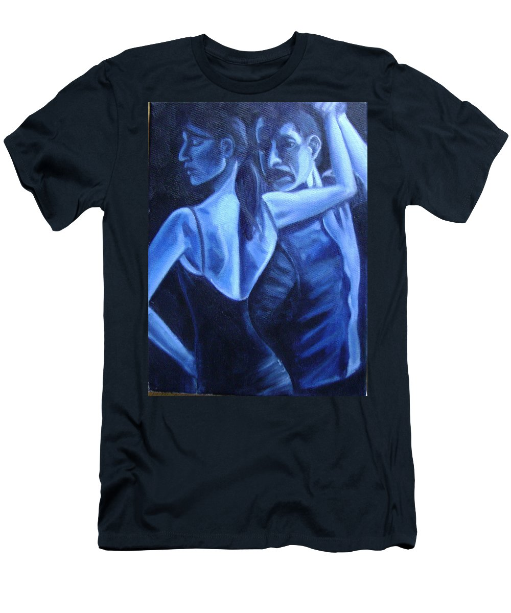 Men's T-Shirt (Athletic Fit) featuring the painting Bludance by Toni Berry