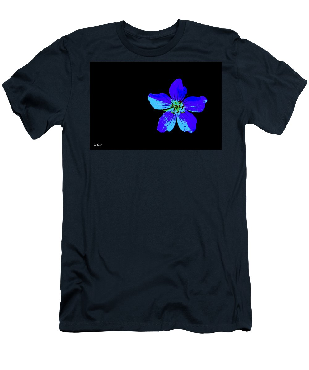 Blue By You Men's T-Shirt (Athletic Fit) featuring the photograph Blue By You by Ed Smith