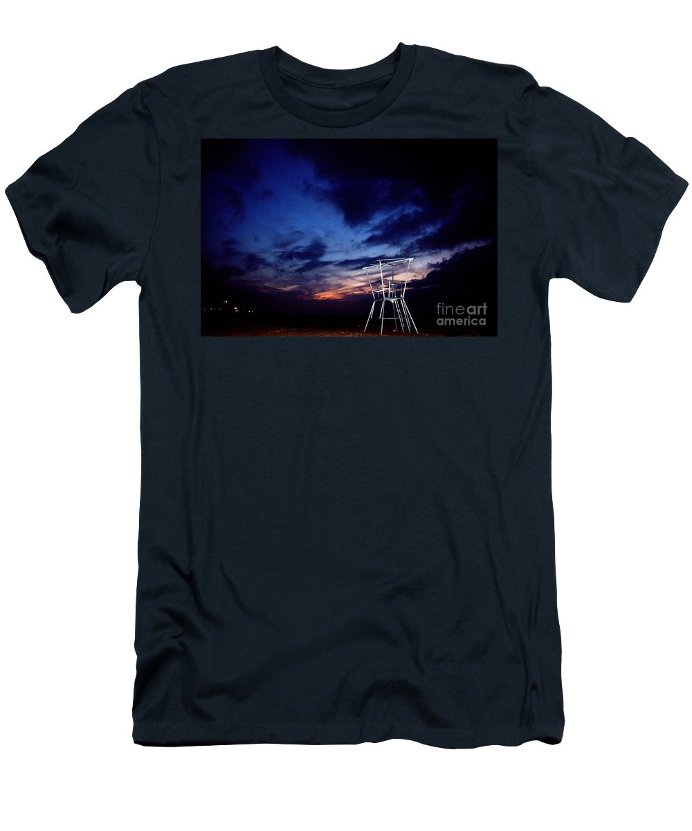 Grand Bend Men's T-Shirt (Athletic Fit) featuring the photograph Blue Hole Tower by John Scatcherd