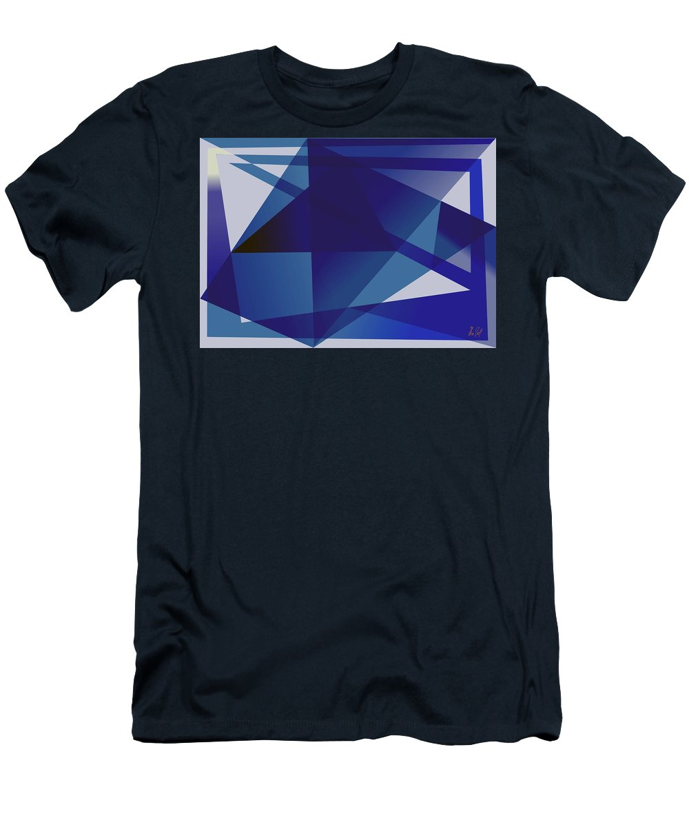Blue Men's T-Shirt (Athletic Fit) featuring the digital art Blue In Blue by Helmut Rottler