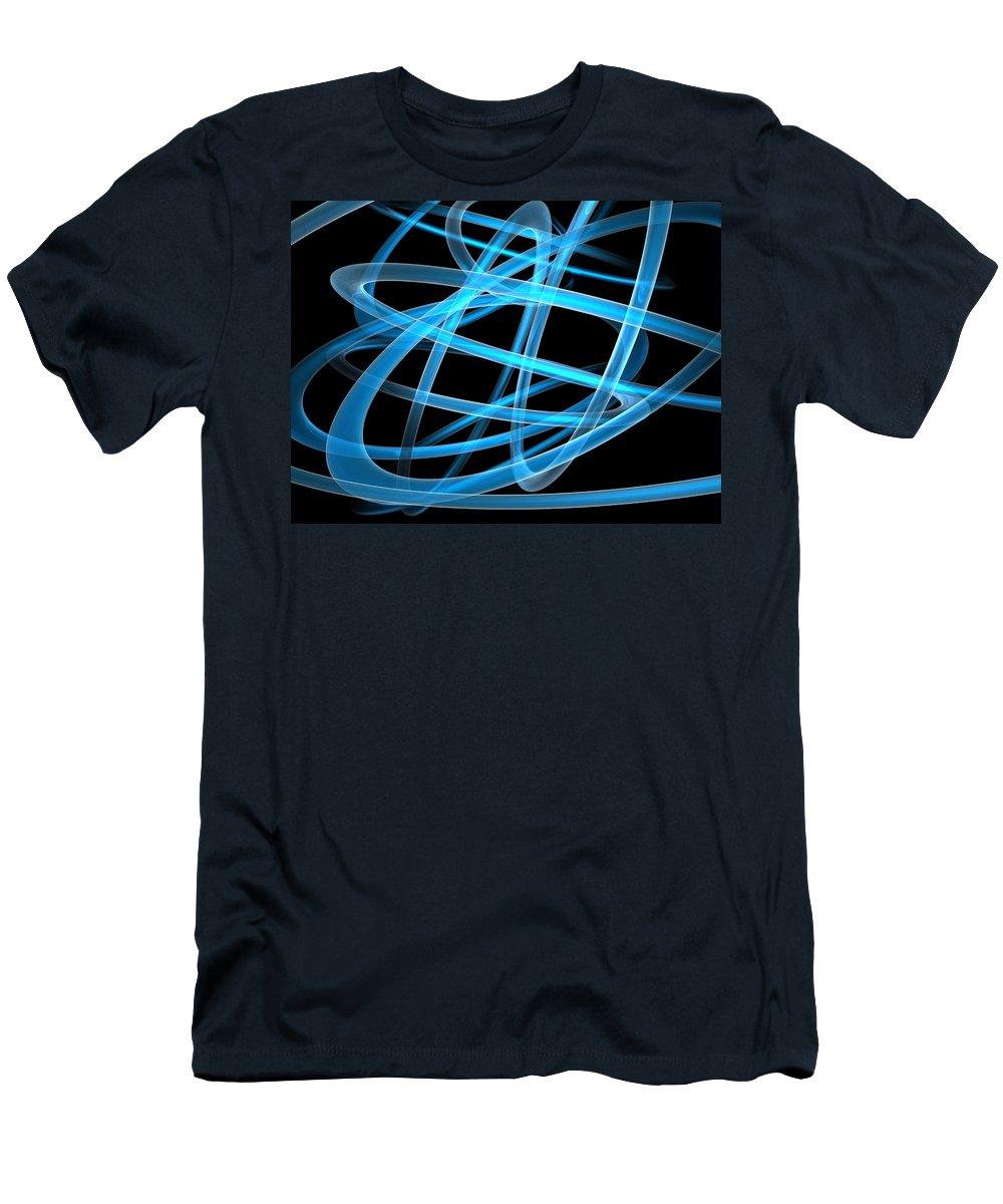 Scott Piers Men's T-Shirt (Athletic Fit) featuring the painting Blue Light by Scott Piers