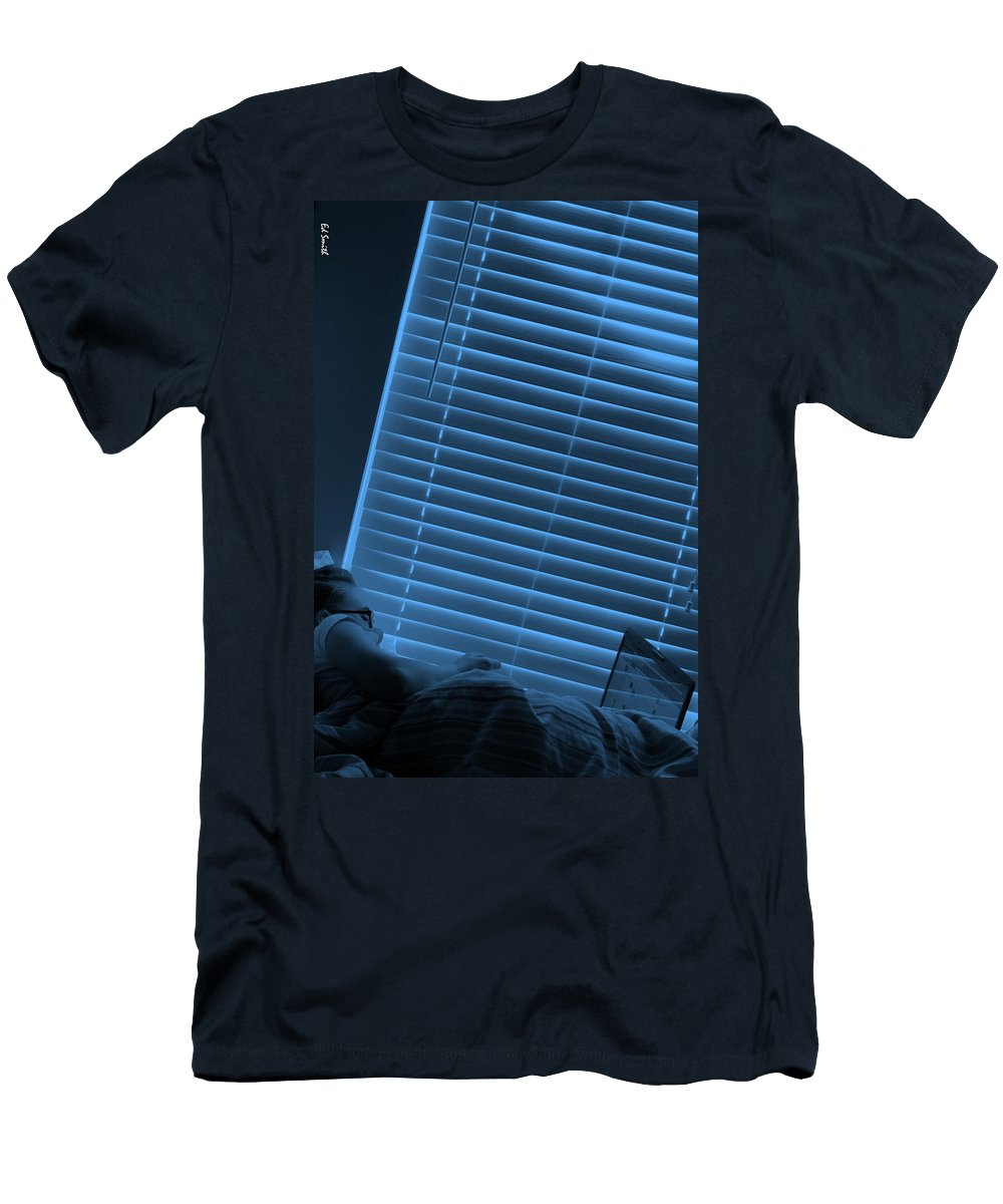 Blue Morning Men's T-Shirt (Athletic Fit) featuring the photograph Blue Morning by Ed Smith