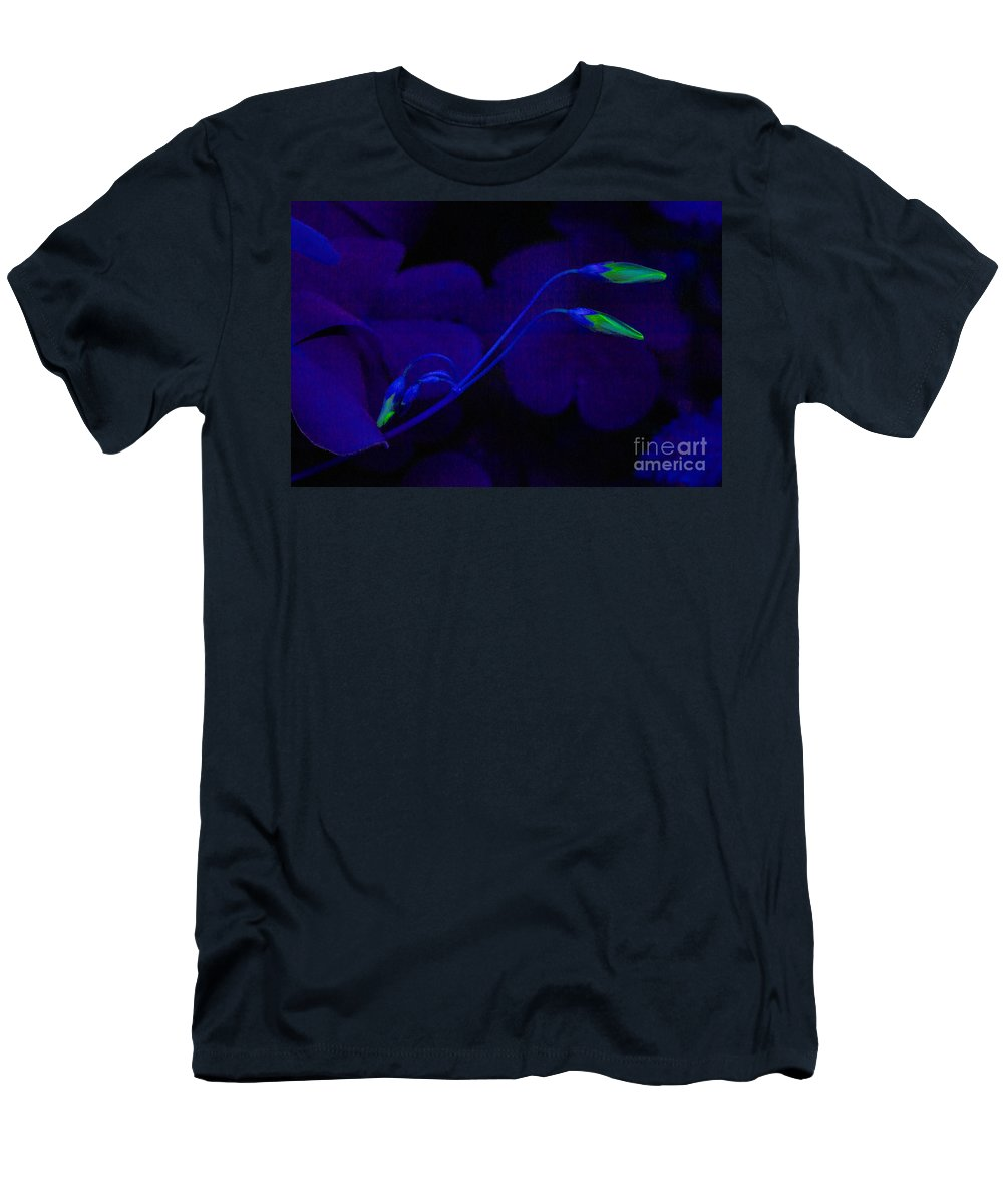 Yellow Men's T-Shirt (Athletic Fit) featuring the photograph Blue by Romeo Lombardi
