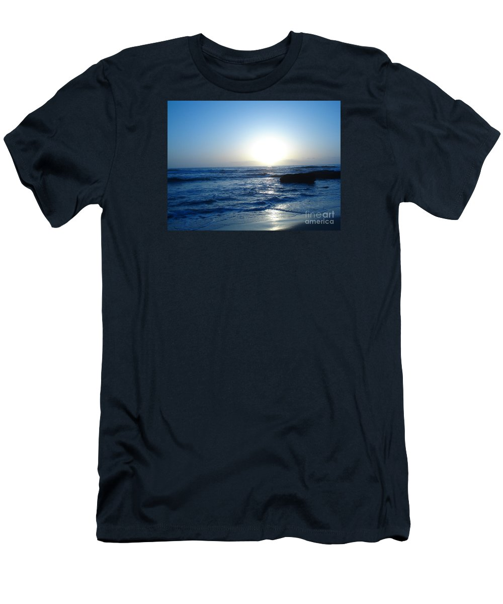 Sunset Men's T-Shirt (Athletic Fit) featuring the photograph Blue Sunset by Madilyn Fox