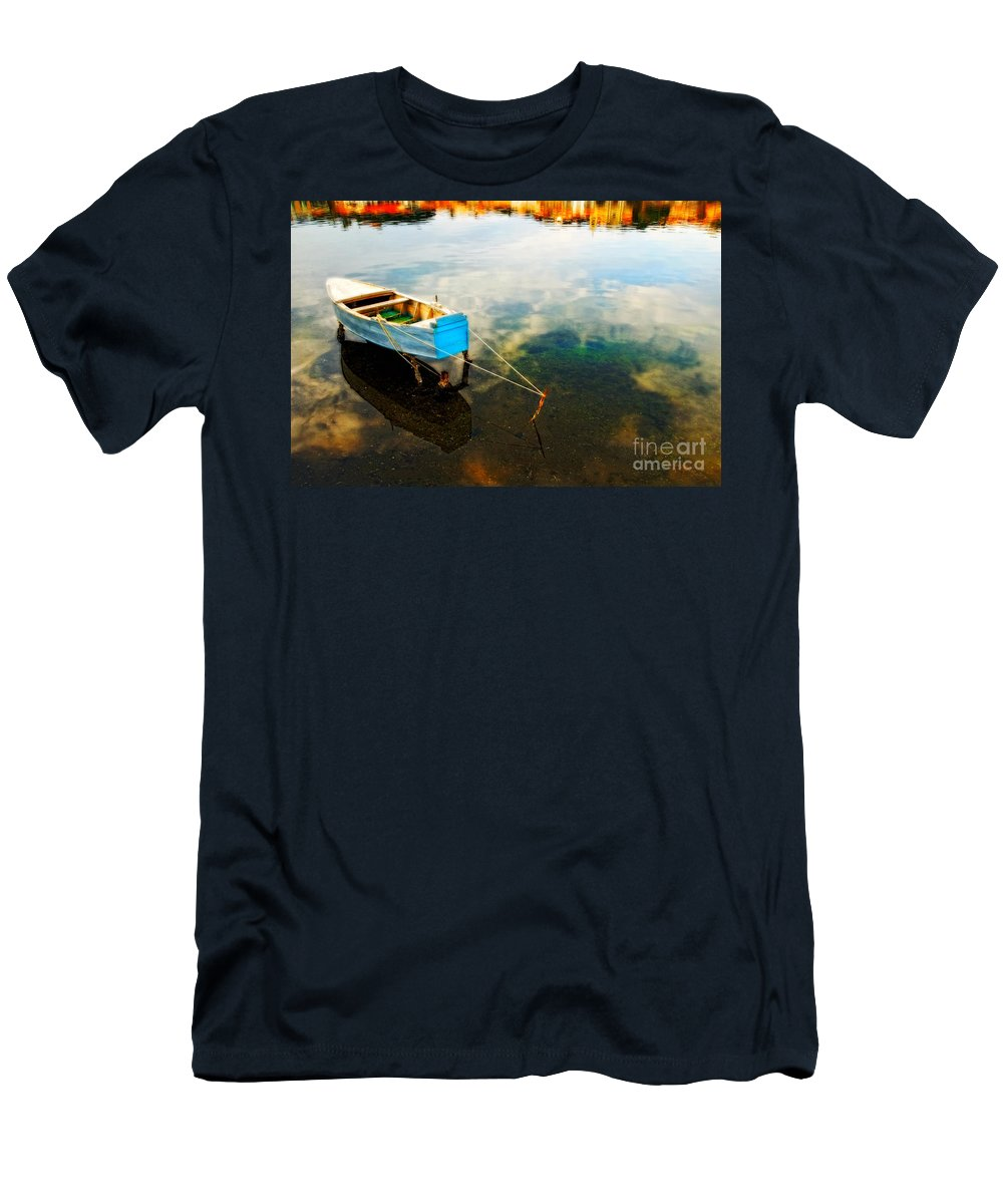 Boat Men's T-Shirt (Athletic Fit) featuring the photograph Boat by Silvia Ganora