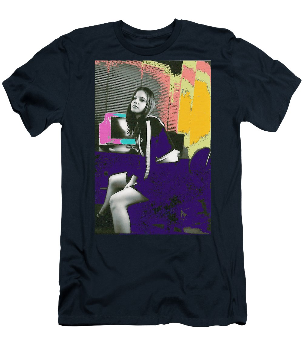 Young Girl Men's T-Shirt (Athletic Fit) featuring the photograph Bored... by Bjorn Sjogren