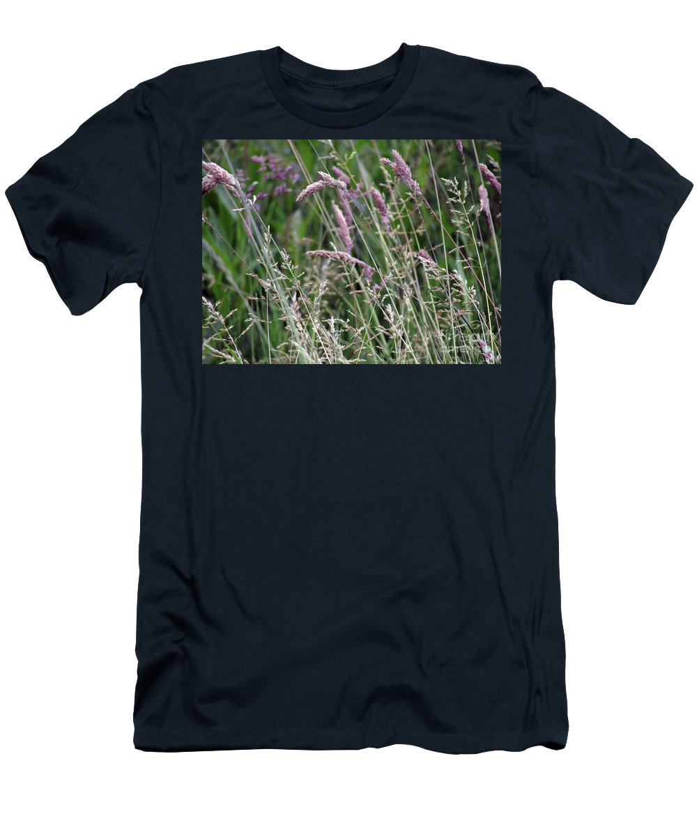 Grass Men's T-Shirt (Athletic Fit) featuring the photograph Breezy Summer 3 by Kim Tran