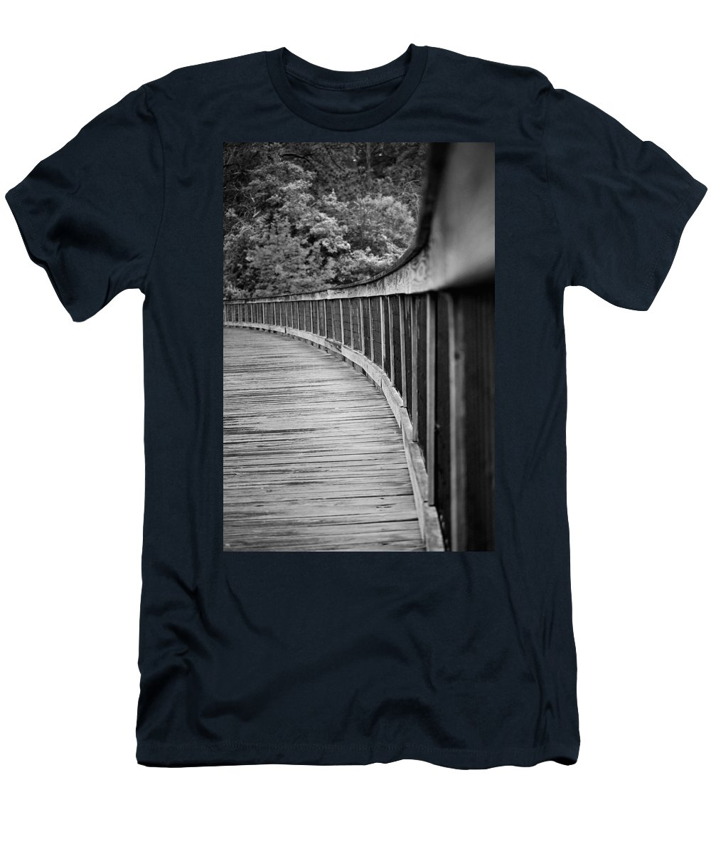 Bridge Men's T-Shirt (Athletic Fit) featuring the photograph Bridge At Calloway II by Robert Meanor