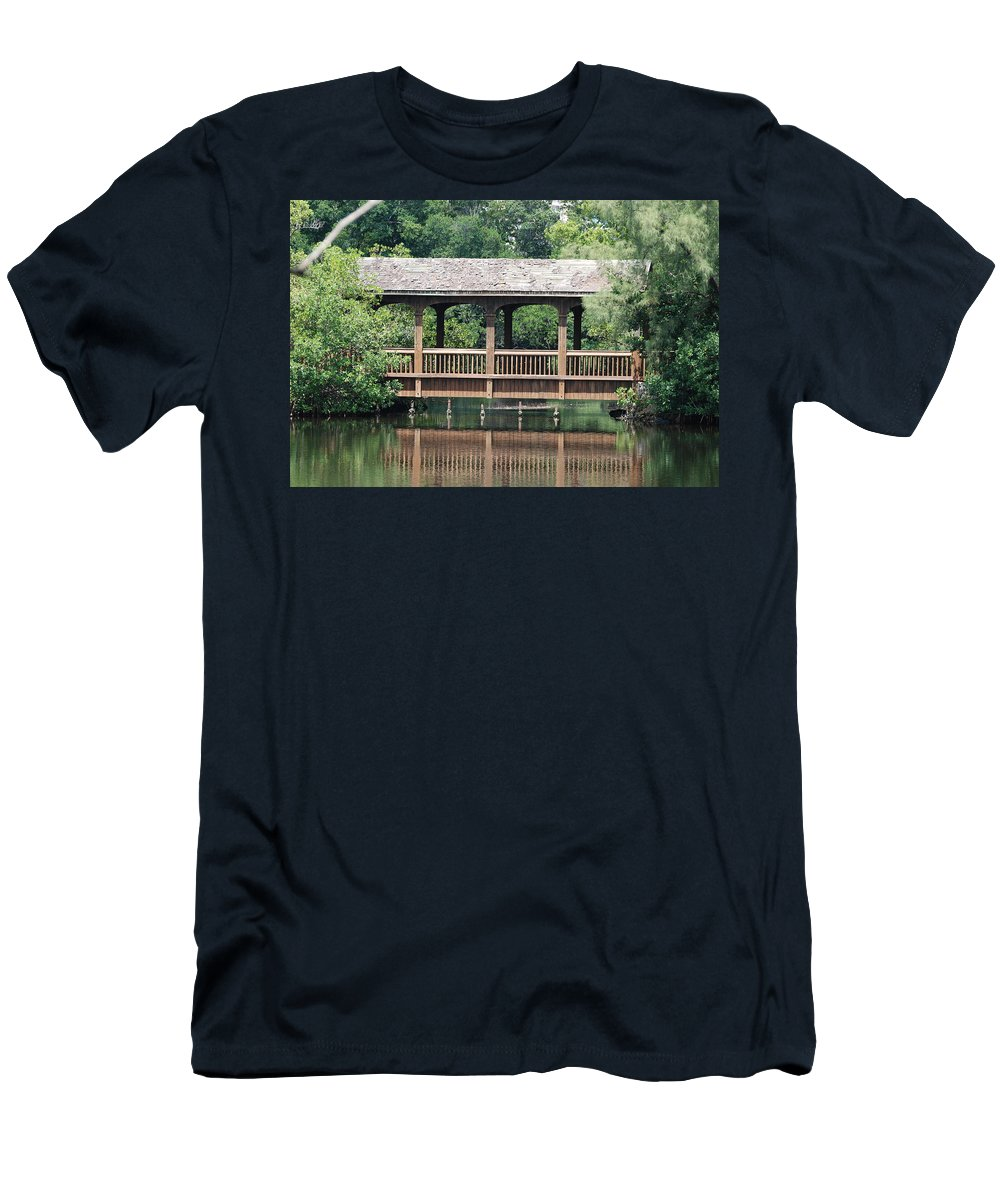 Architecture Men's T-Shirt (Athletic Fit) featuring the photograph Bridges Of Miami Dade County by Rob Hans