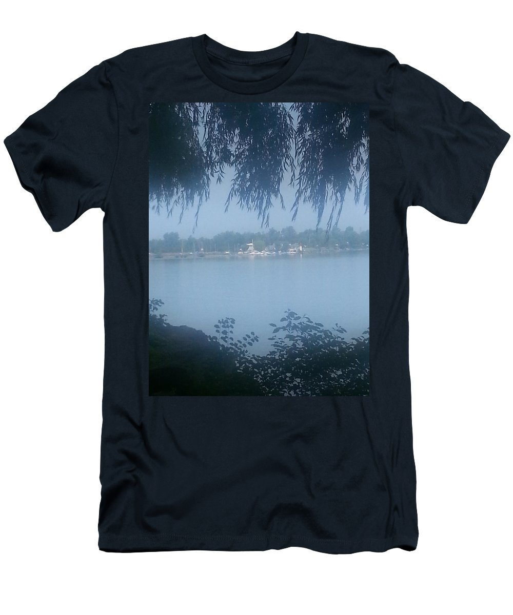 Niagara On The Lake Ontario Men's T-Shirt (Athletic Fit) featuring the photograph Brighter Than The Mist by Dennis Burton
