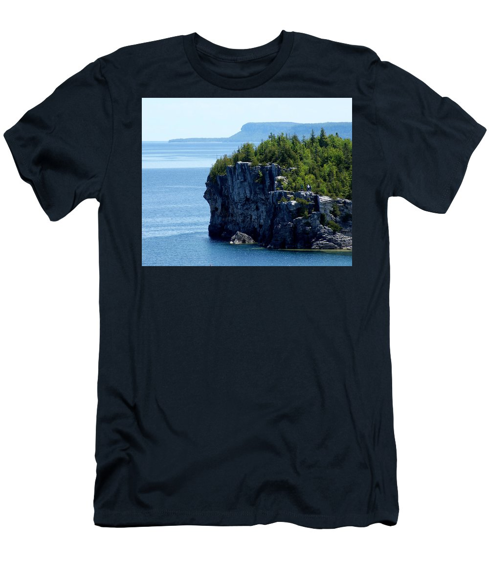 National Park Men's T-Shirt (Athletic Fit) featuring the photograph Bruce Peninsula National Park by Cale Best