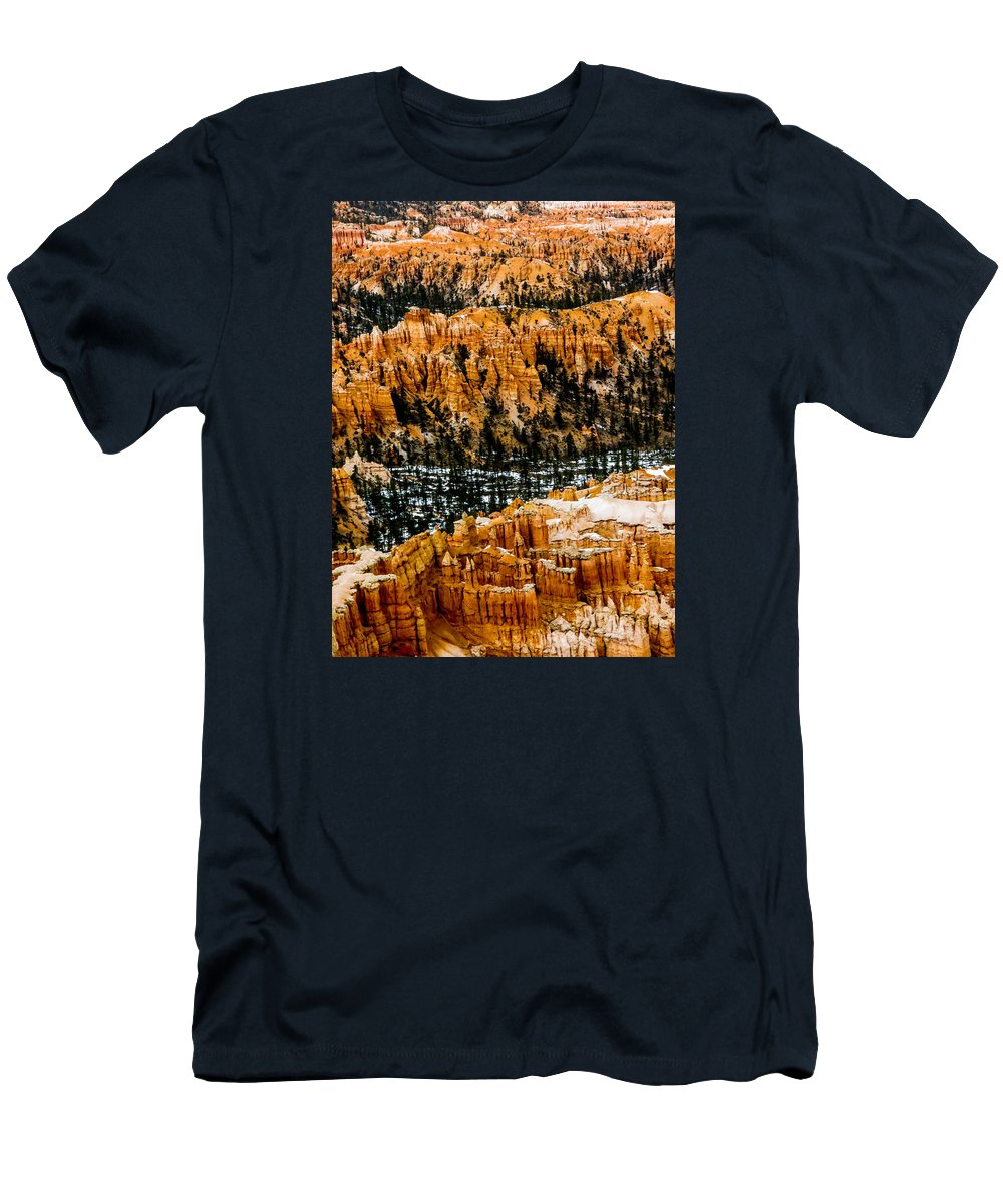 Bryce Canyon National Park Men's T-Shirt (Athletic Fit) featuring the photograph Bryce Canyon Series #3 by Patti Deters