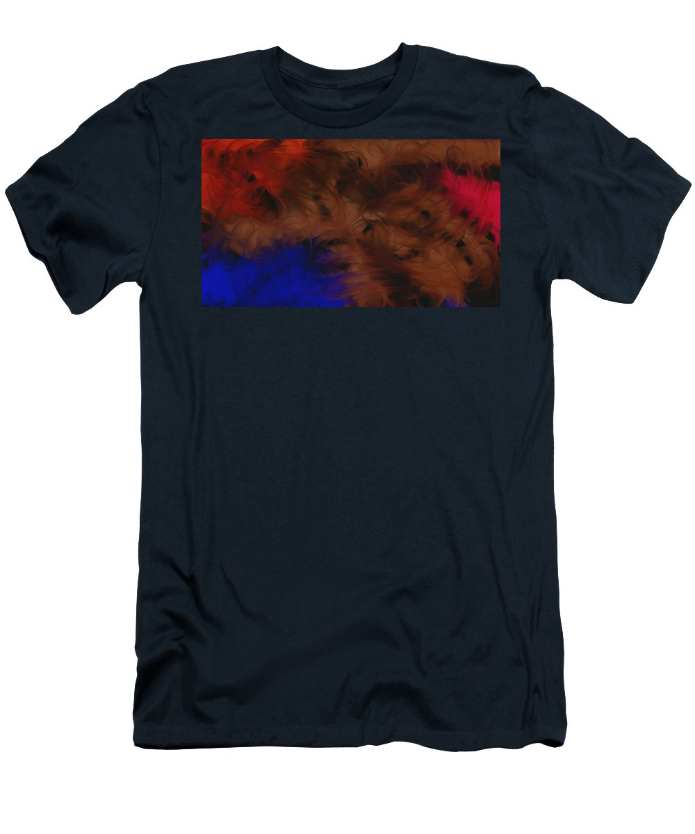 Abstract Men's T-Shirt (Athletic Fit) featuring the painting Burnished Swirl Beaneath by D A Diggs