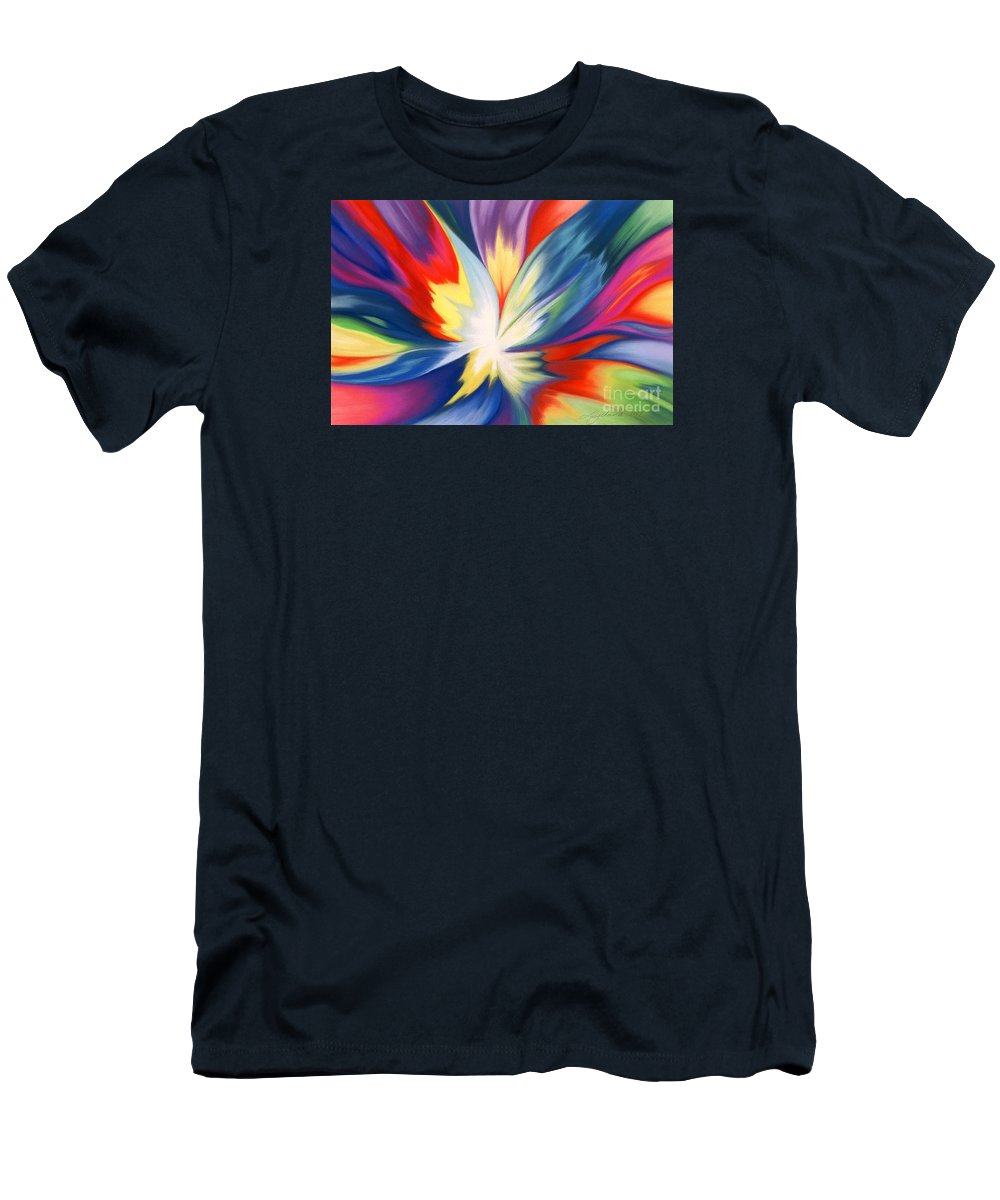 Abstract T-Shirt featuring the painting Burst Of Joy by Lucy Arnold