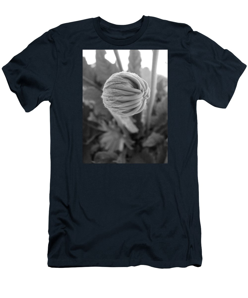 Black And White Men's T-Shirt (Athletic Fit) featuring the photograph Bw Bud by Mary Halpin