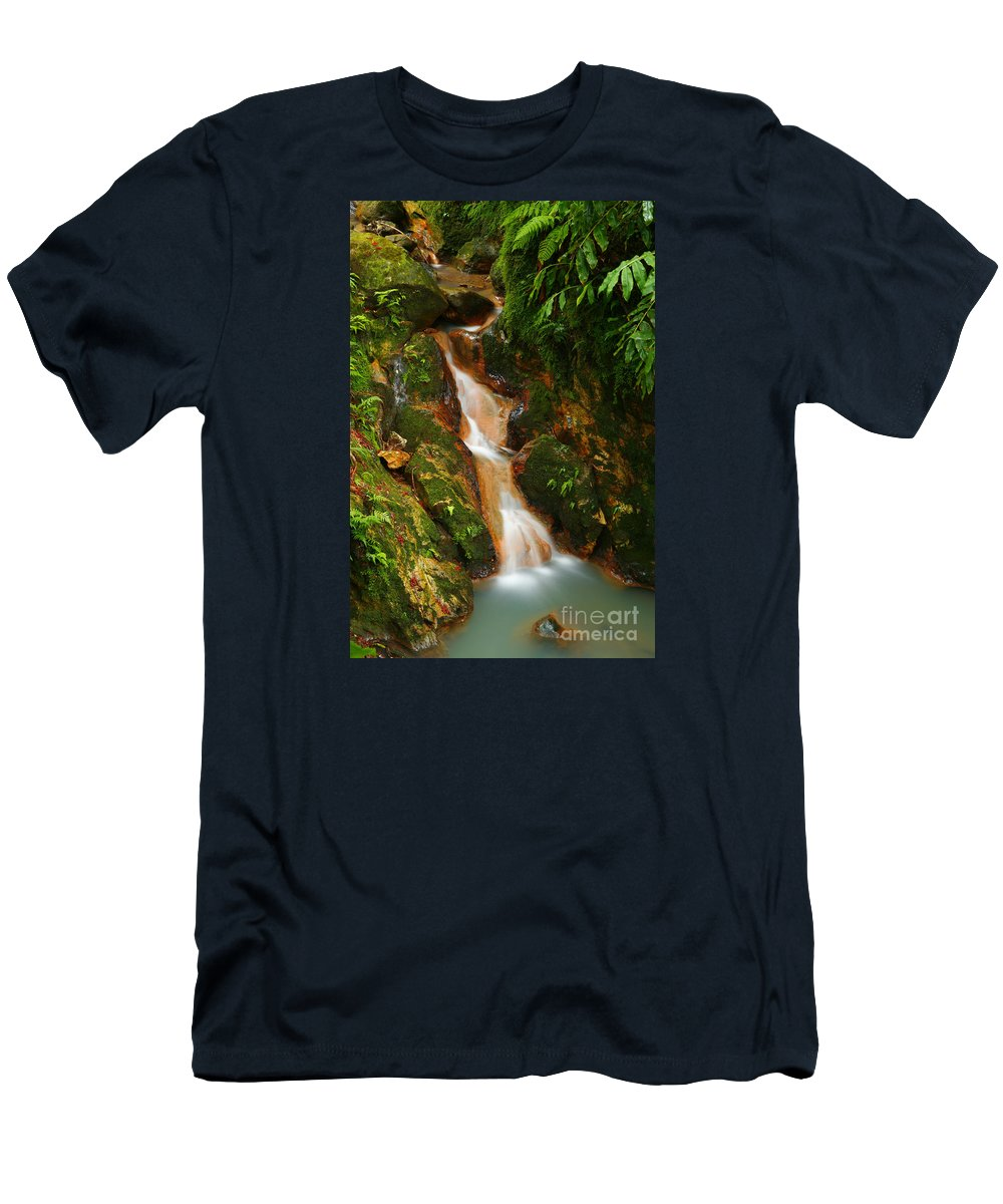 Azores Men's T-Shirt (Athletic Fit) featuring the photograph Caldeira Velha Park by Gaspar Avila