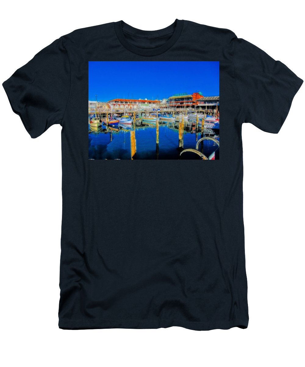 Hdr Men's T-Shirt (Athletic Fit) featuring the photograph Calm Waters by Douglas Barnard