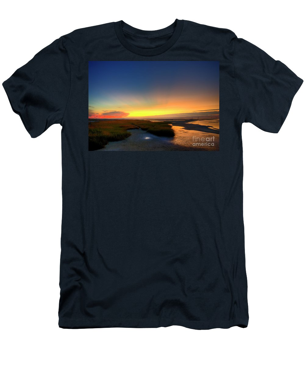 Beach Men's T-Shirt (Athletic Fit) featuring the photograph Cape Cod Sunset by John Greim