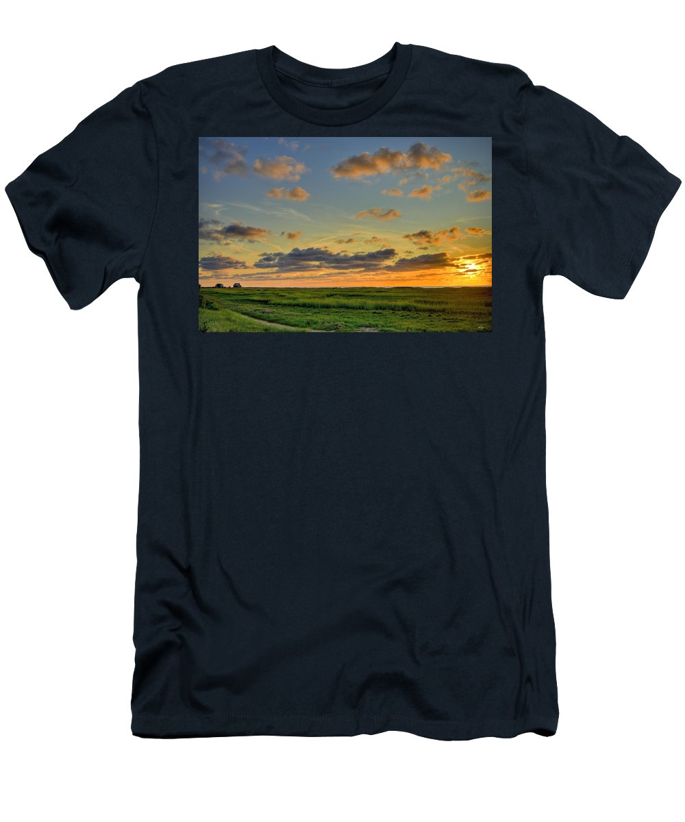 Photography Men's T-Shirt (Athletic Fit) featuring the photograph Cape Cod Sunset by William Alger