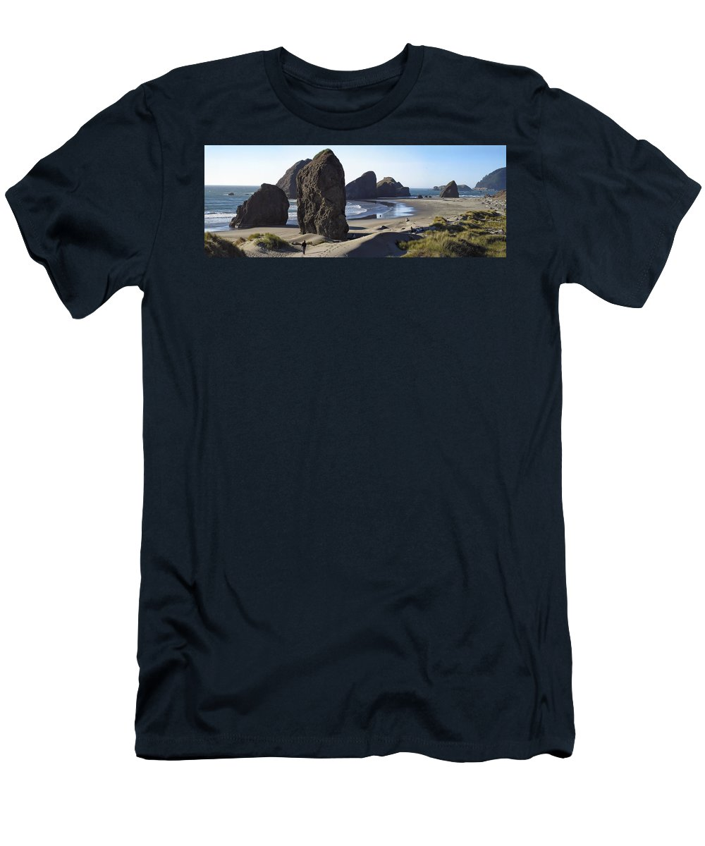 oregon Coast Men's T-Shirt (Athletic Fit) featuring the photograph Cape Sebastian - Hunters Cove Area- Oregon Coast by Daniel Hagerman