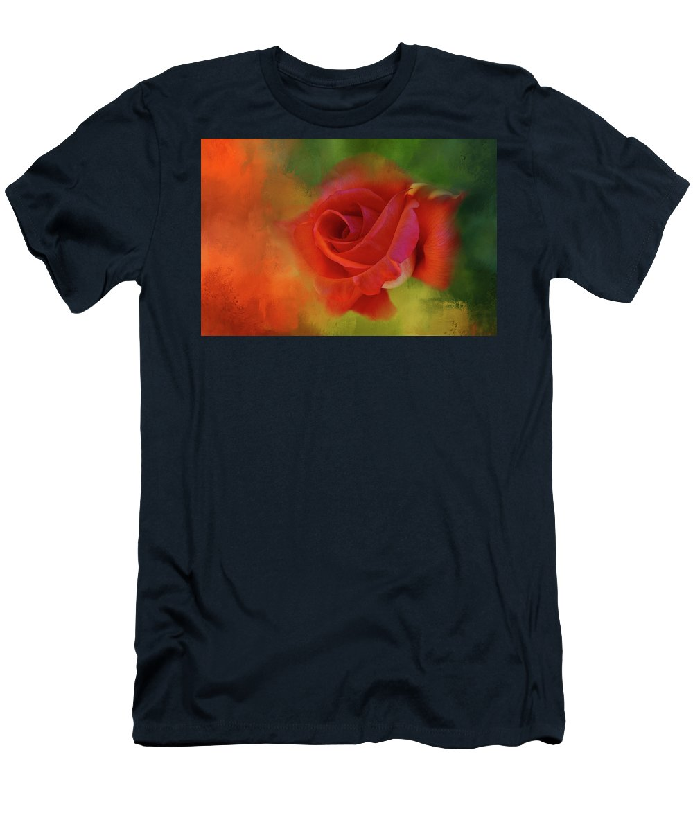 Rose Men's T-Shirt (Athletic Fit) featuring the digital art Cary Grant Rose by Terry Davis