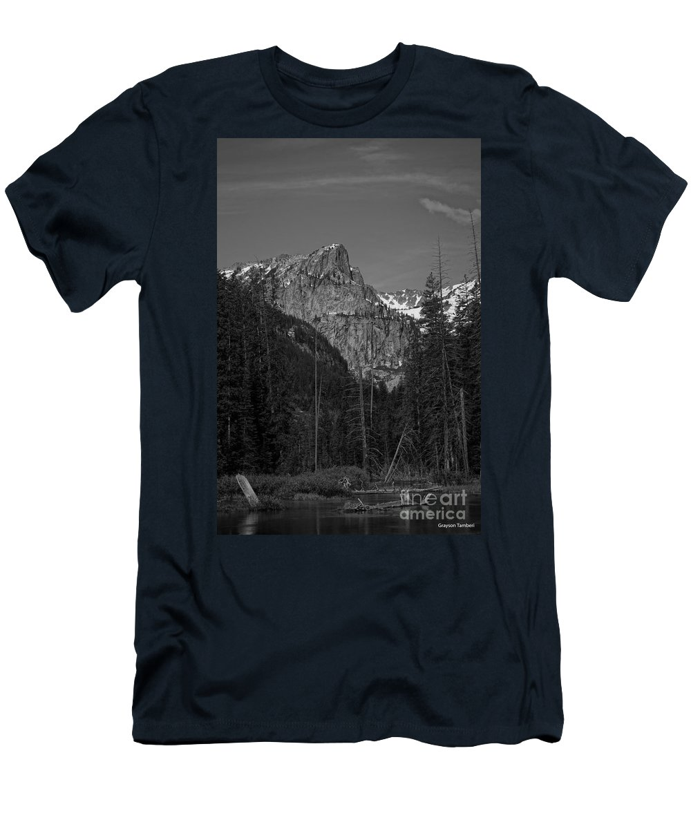 Landscape Men's T-Shirt (Athletic Fit) featuring the photograph Cascade Canyon by Grayson Tamberi