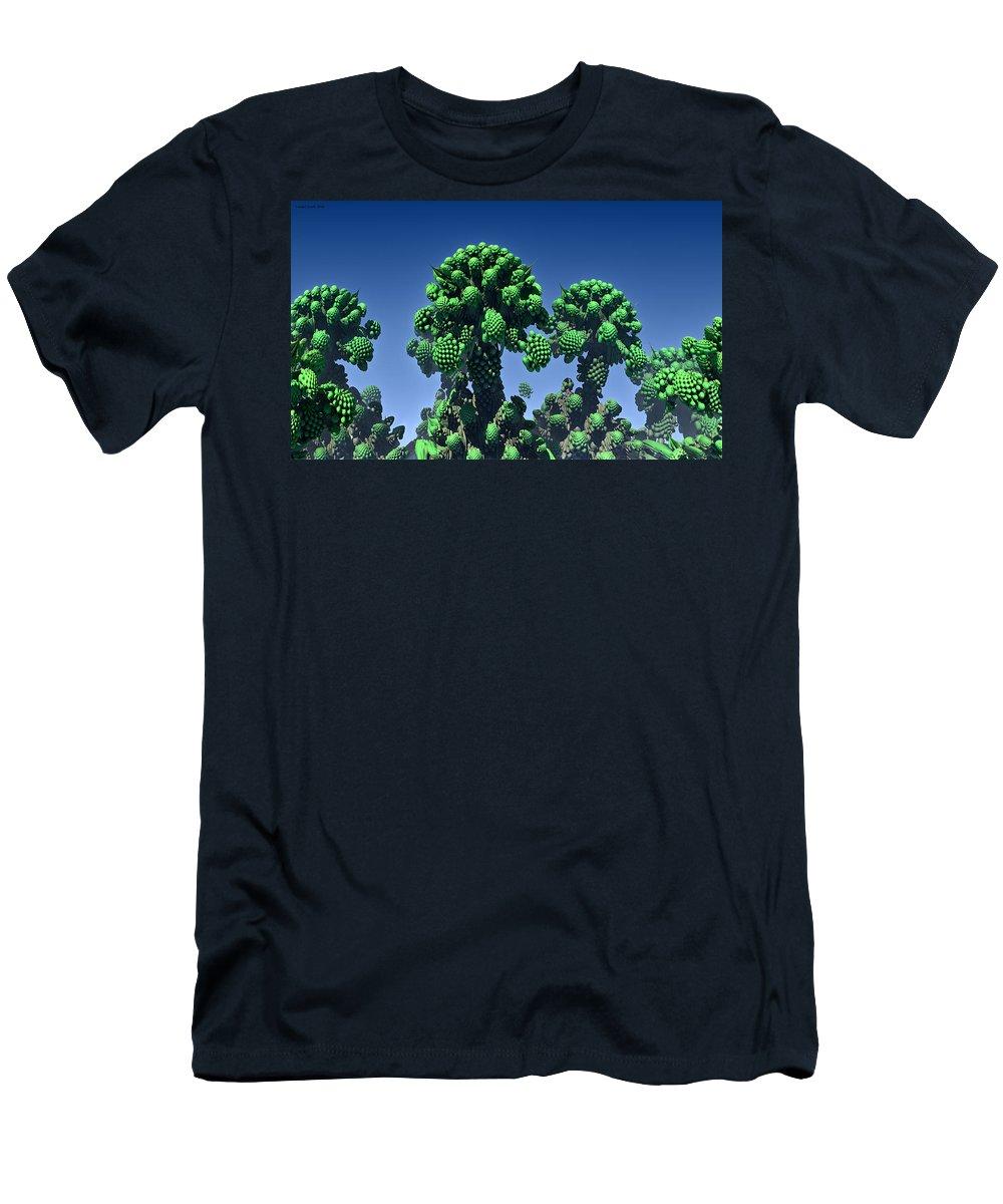 Fractal Men's T-Shirt (Athletic Fit) featuring the digital art Cauliflower by Lorant Zsolt