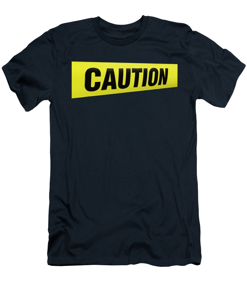 Texas Men's T-Shirt (Athletic Fit) featuring the photograph Caution Tape by Erich Grant